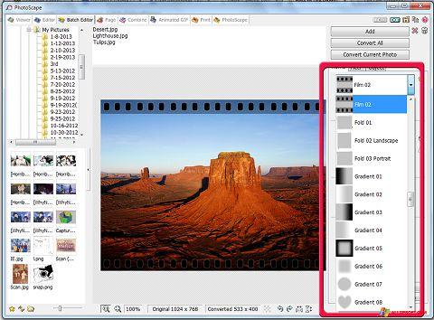 Screenshot PhotoScape per Windows XP