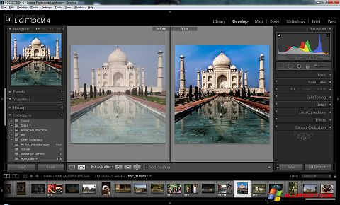 Screenshot Adobe Photoshop Lightroom per Windows XP