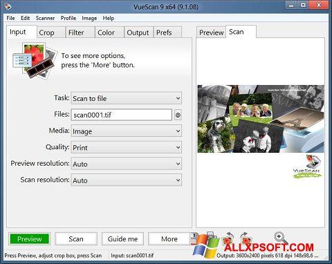 Screenshot VueScan per Windows XP