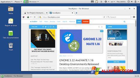 Screenshot Tor Browser per Windows XP