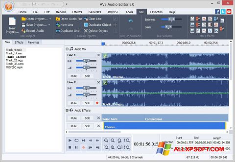 Screenshot AVS Audio Editor per Windows XP