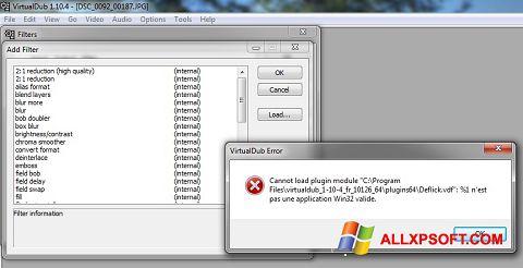 Screenshot VirtualDub per Windows XP
