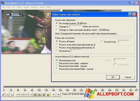 Screenshot VirtualDubMod per Windows XP