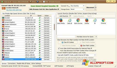 Screenshot Hide ALL IP per Windows XP