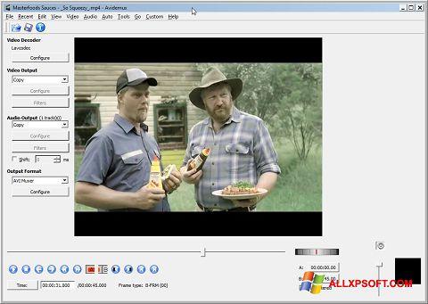 Screenshot Avidemux per Windows XP