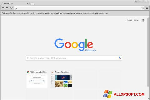 Screenshot Google Chrome per Windows XP