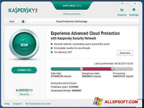 Screenshot Kaspersky per Windows XP