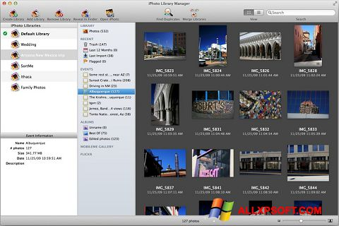 Screenshot iPhoto per Windows XP