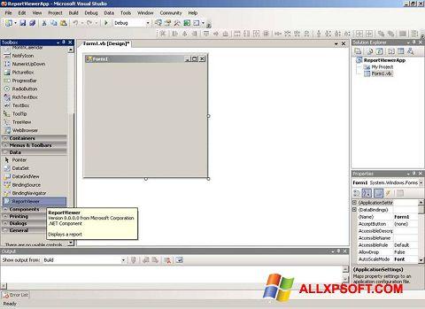 Screenshot Microsoft Visual Studio per Windows XP