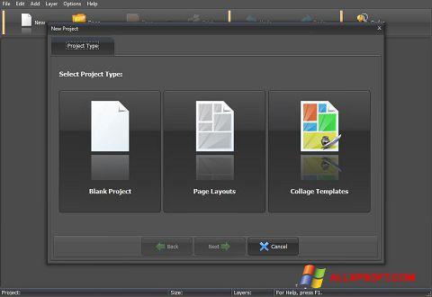 Screenshot PhotoMix Collage per Windows XP