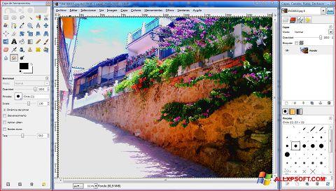 Screenshot GIMP per Windows XP