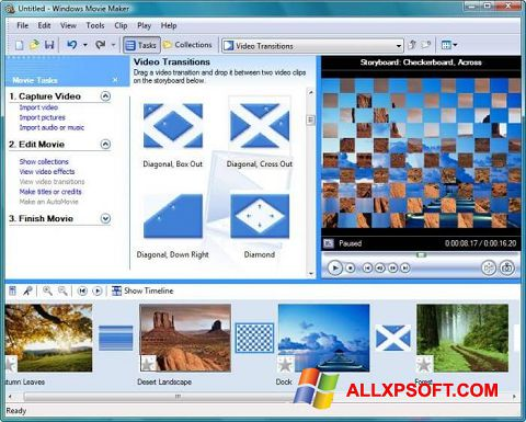 Screenshot Windows Movie Maker per Windows XP