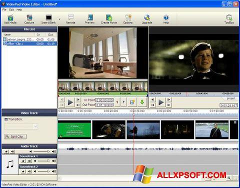 Screenshot VideoPad Video Editor per Windows XP