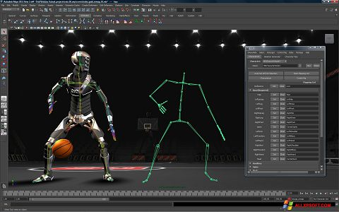 Screenshot Autodesk Maya per Windows XP