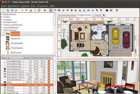 Screenshot Sweet Home 3D per Windows XP