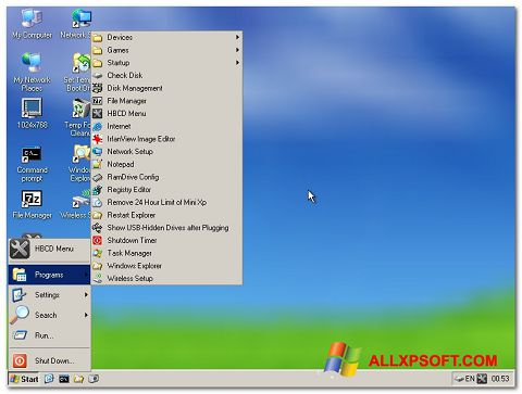 Screenshot Hirens Boot CD per Windows XP
