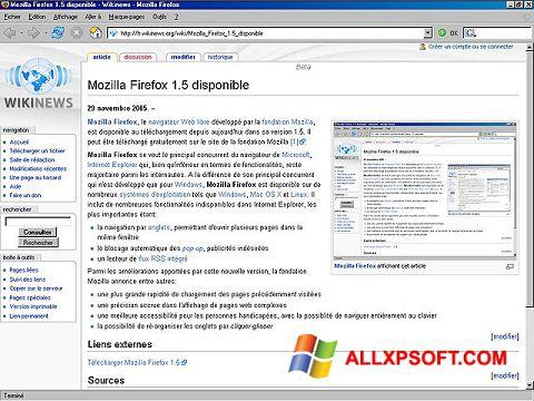 Screenshot Mozilla Firefox per Windows XP