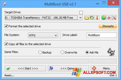 Screenshot Multi Boot USB per Windows XP