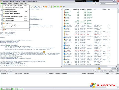 Screenshot FlylinkDC++ per Windows XP