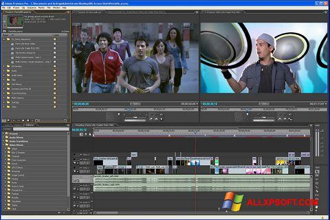 Screenshot Adobe Premiere Pro per Windows XP
