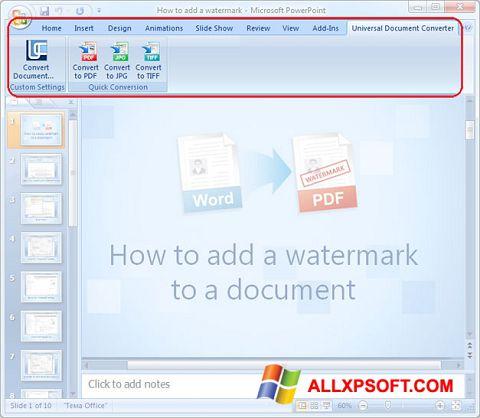 Screenshot Microsoft PowerPoint per Windows XP