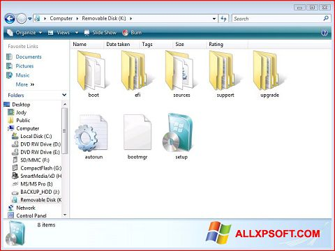 Screenshot Windows 7 USB DVD Download Tool per Windows XP