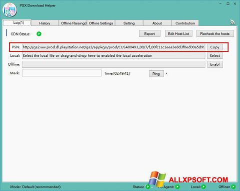 Screenshot DownloadHelper per Windows XP
