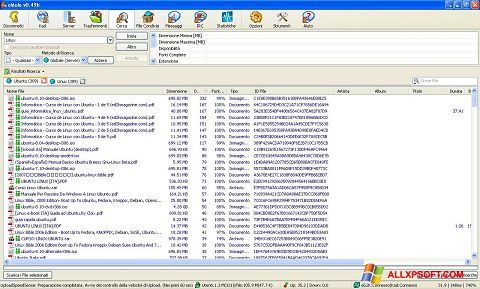 Screenshot eMule per Windows XP