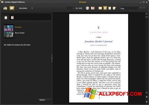 Screenshot Adobe Digital Editions per Windows XP