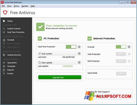 Screenshot Avira Free Antivirus per Windows XP