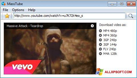 Screenshot MassTube per Windows XP