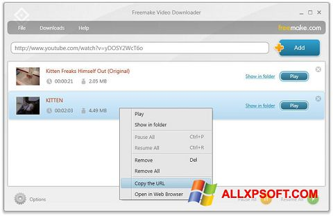 Screenshot Freemake Video Downloader per Windows XP