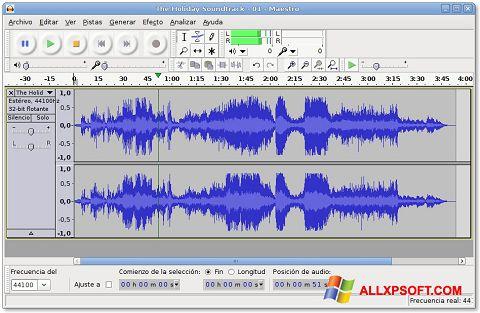 Screenshot Audacity per Windows XP
