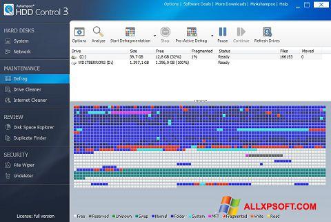 Screenshot Ashampoo HDD Control per Windows XP