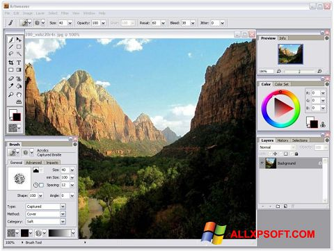 Screenshot Artweaver per Windows XP