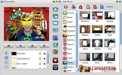 Screenshot WebcamMax per Windows XP