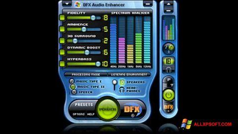 Screenshot DFX Audio Enhancer per Windows XP
