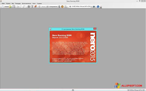 Screenshot Nero per Windows XP