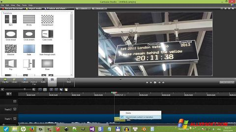 Screenshot Camtasia Studio per Windows XP