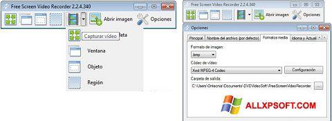 Screenshot Free Screen Video Recorder per Windows XP