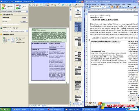 Screenshot ABBYY PDF Transformer per Windows XP