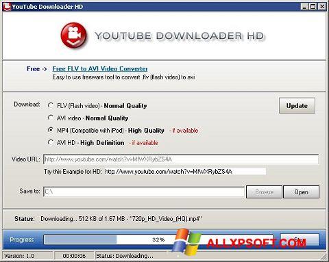 Screenshot Youtube Downloader HD per Windows XP