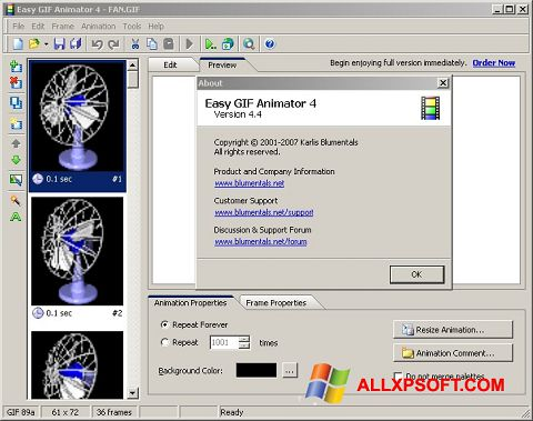 Screenshot Easy GIF Animator per Windows XP