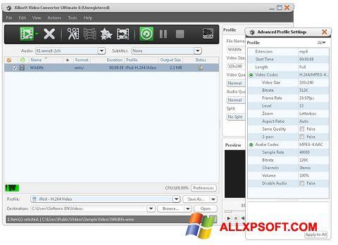 Screenshot Xilisoft Video Converter per Windows XP